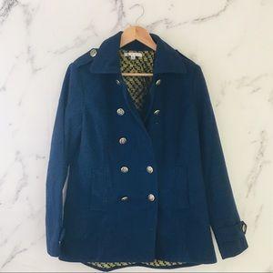 {CAbi} Nautical Navy Prep School Pea Coat # 525